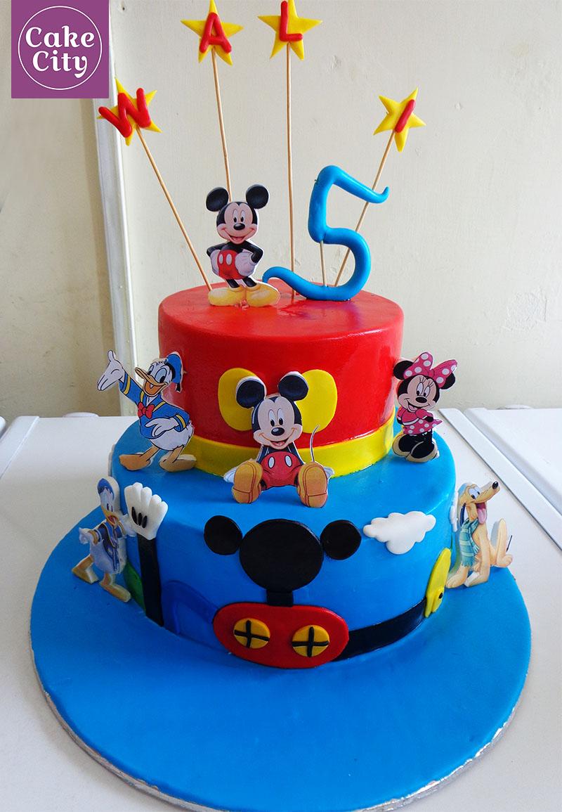 Mickey Mouse Birthday Cake Happy Birthday Cakes In Lahore