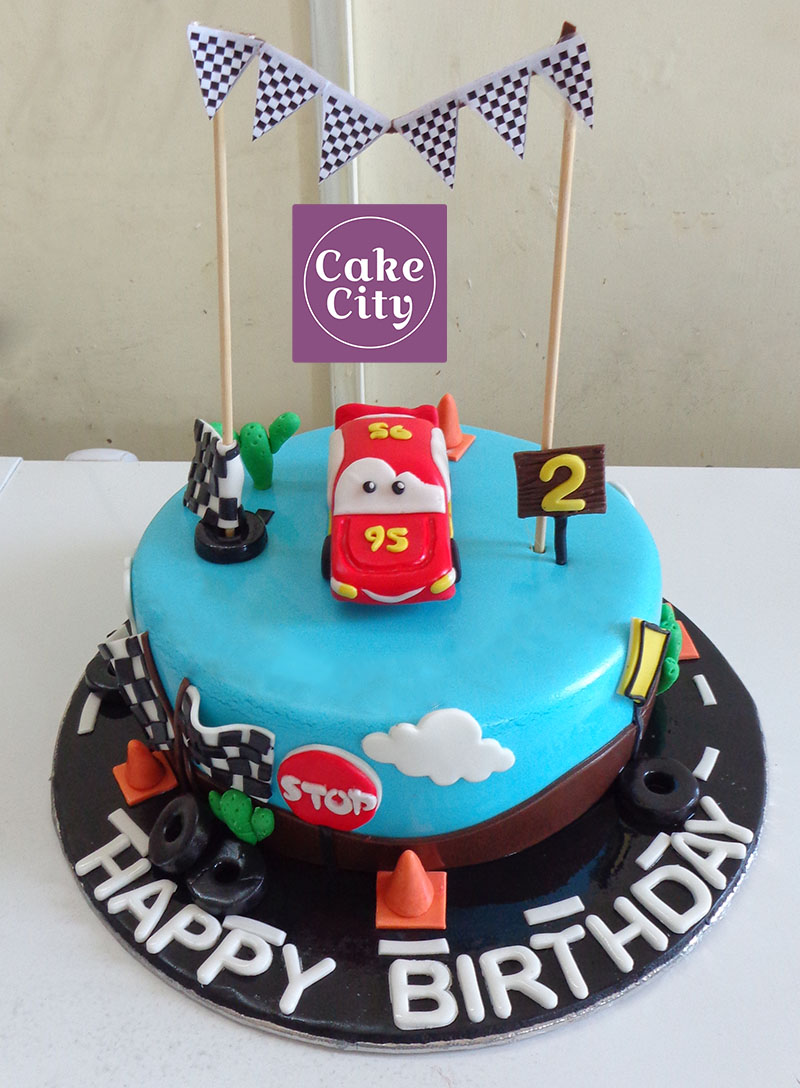 95 Red Car Birthday Cake Happy Birthday Cakes In Lahore