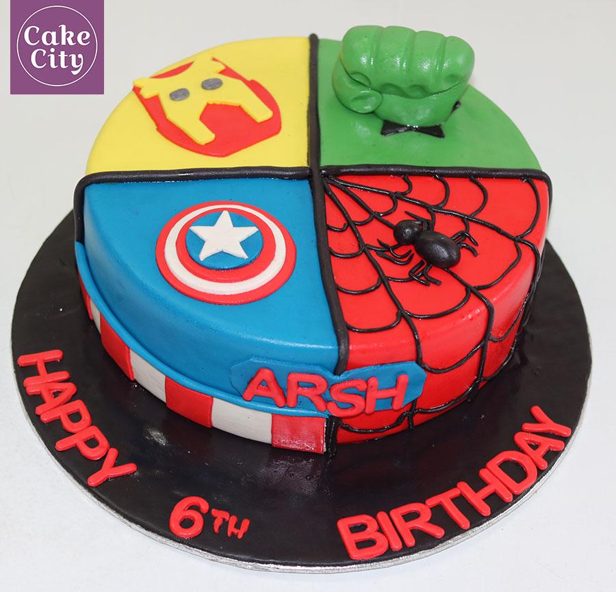 Avengers Birthday Cake Happy birthday cakes in Lahore