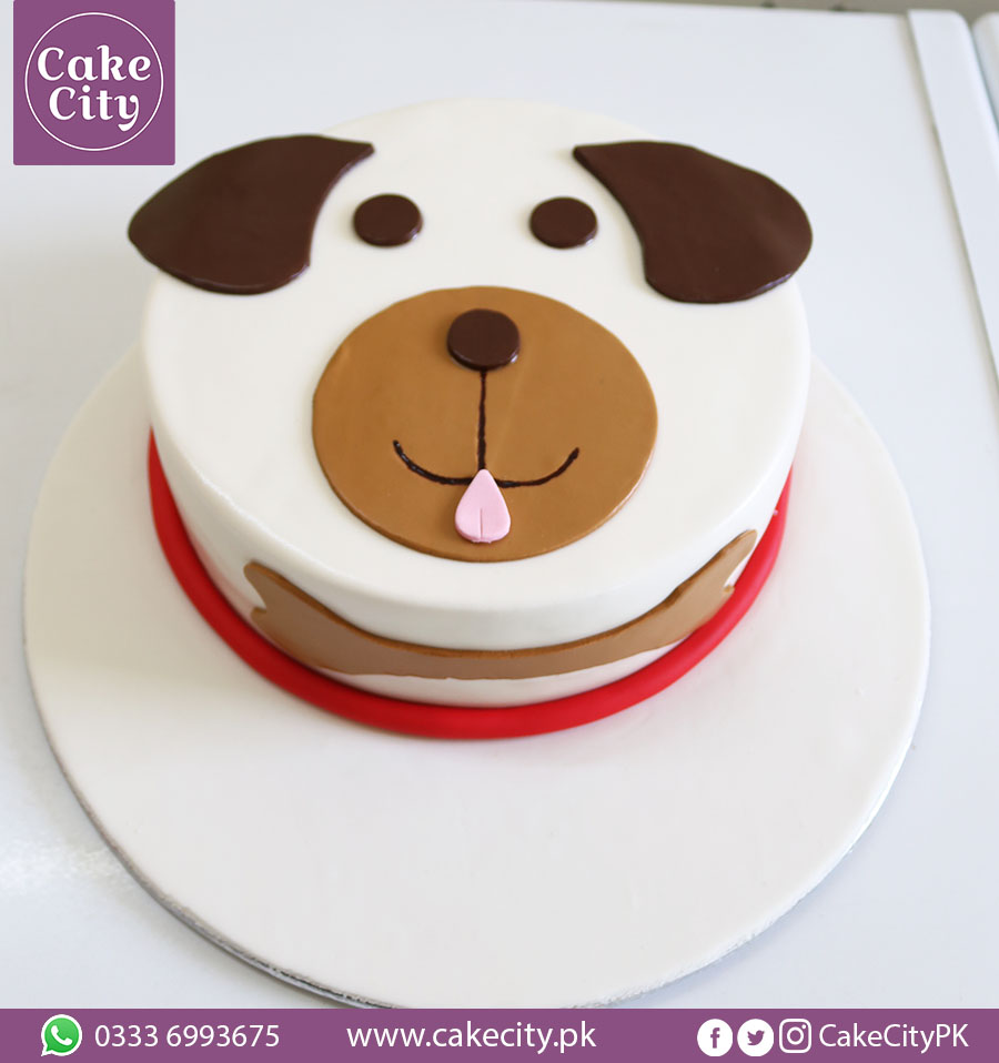 Brown Dog Birthday Cake