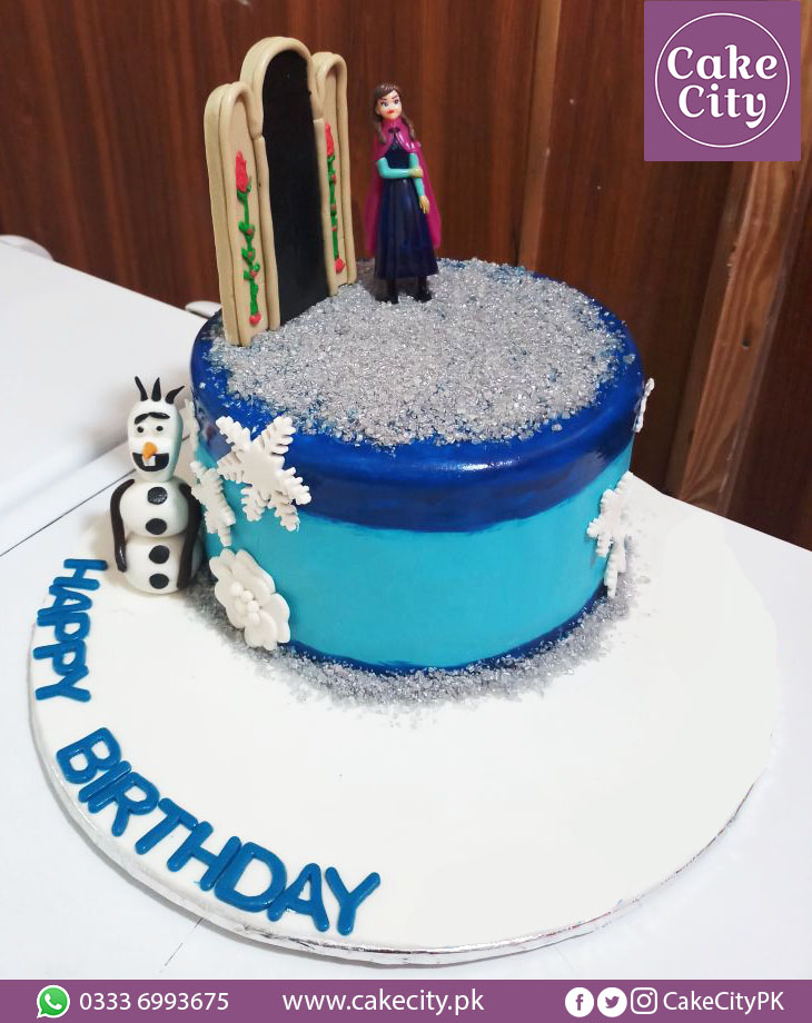 Frozen Princess Birthday Cake
