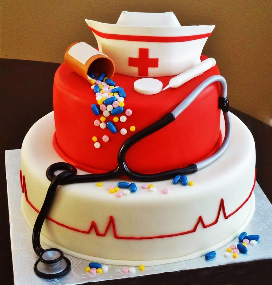 Nursing Medical Cake Doctor Themed Cakes In Lahore