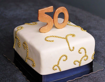 50 Years Dad Birthday Cake