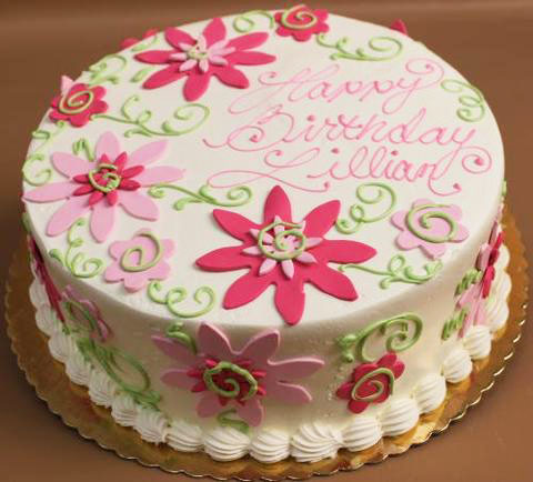 Flower Designing Birthday Cake