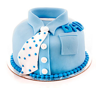 Blue Shirt Dad Birthday Cake