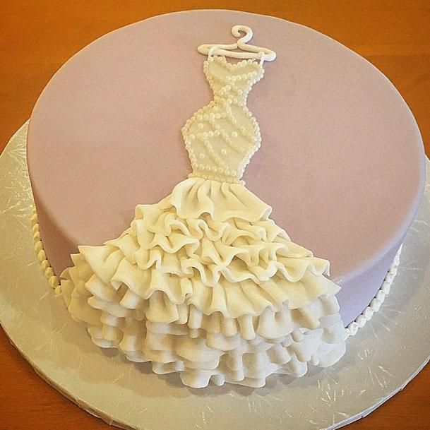 Designer Bridal Shower Cake - Creative bridal shower cakes