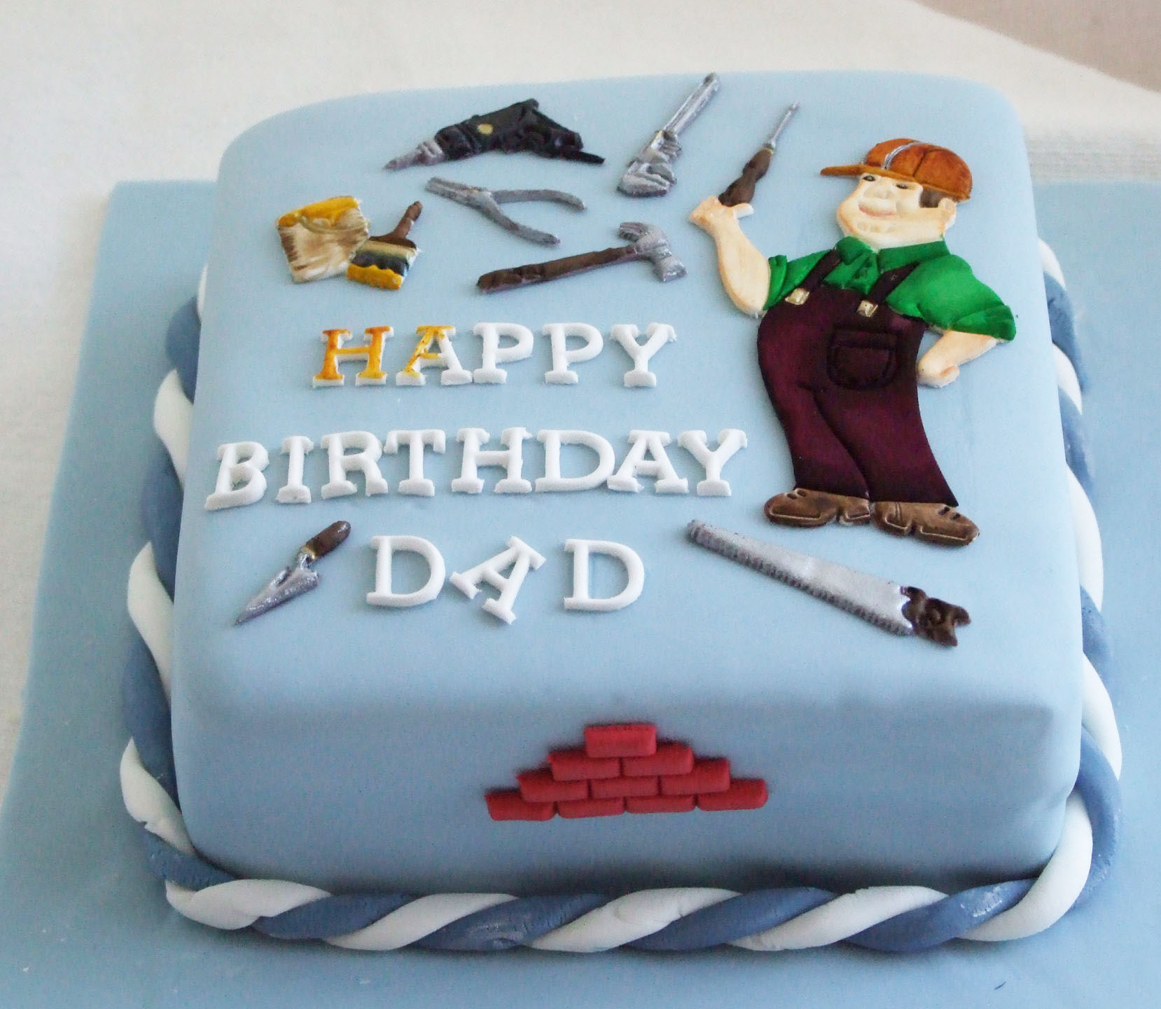 Painter Dad Birthday Cake