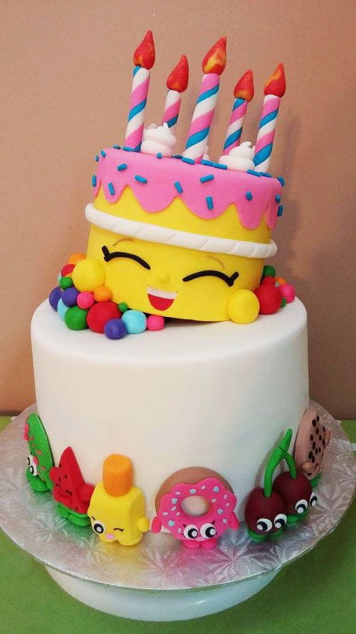 Shopkins Girls Birthday Cake