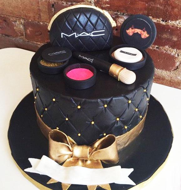 Black Theme Mac Makeup Cake