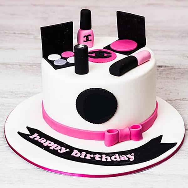 Chanel Black Makeup Cake