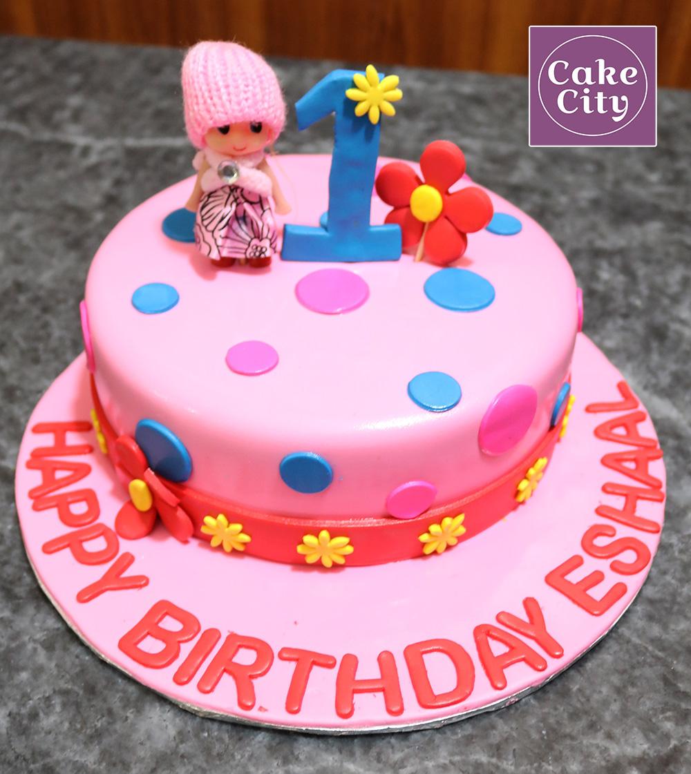 Doll 1st Kids Birthday Cake