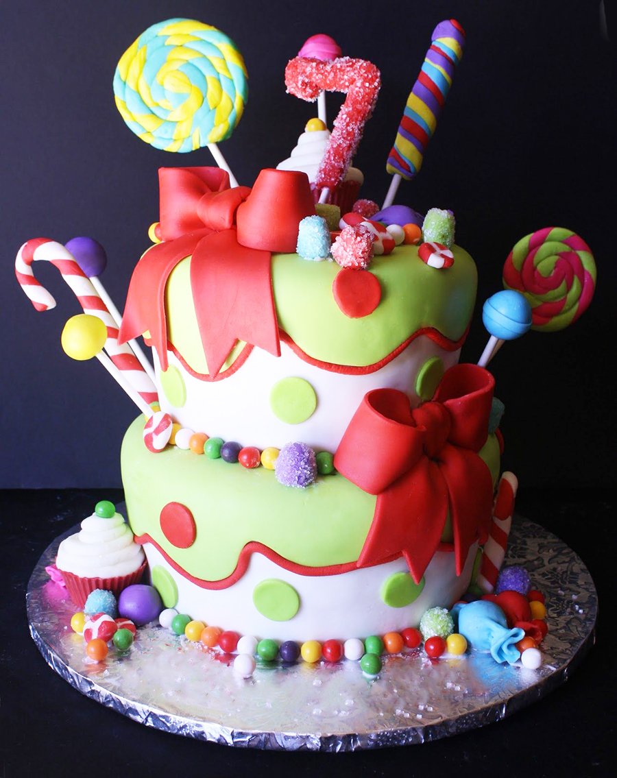 Lollipop Candies Kids Party Cake