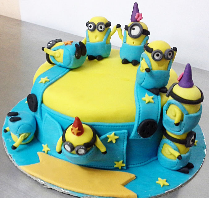 Minions Fun Kids Birthday Cake