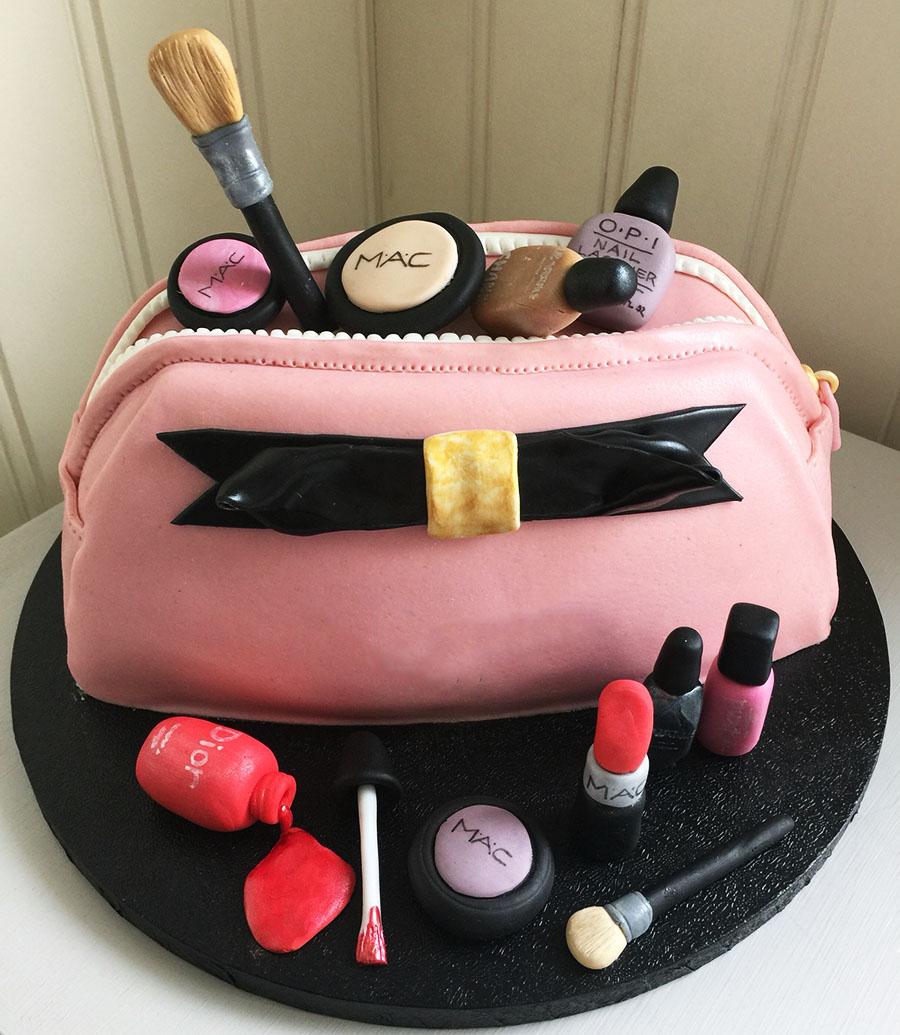 Pink Bag MAC Makeup Cake