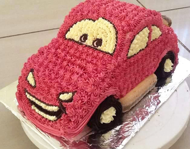 Pink Car Birthday Cake Happy Birthday Cakes In Lahore