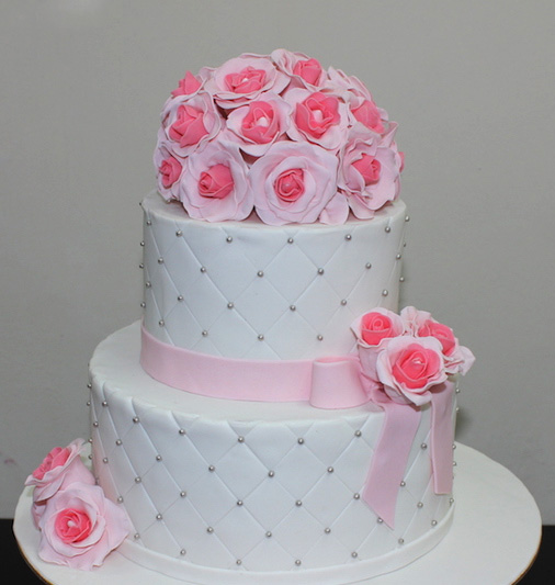 Pink Flowers Wedding Cake Beautiful Wedding Cakes In Lahore