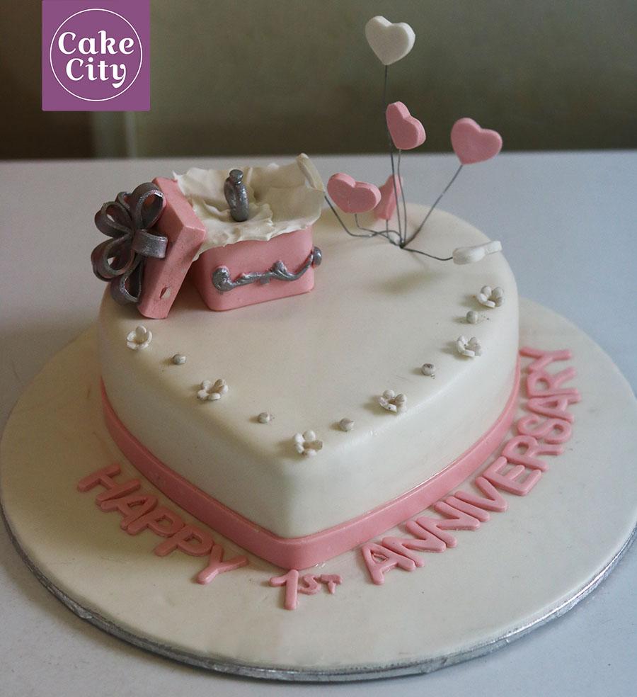 Ring Box Anniversary Cake Fondant Cakes Wedding
